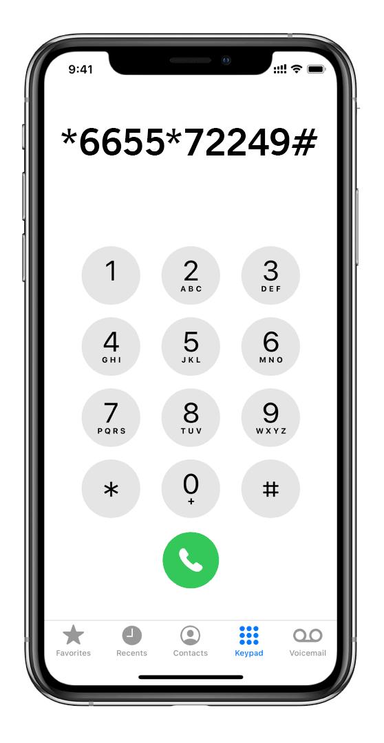 شماره گیری با آیفون